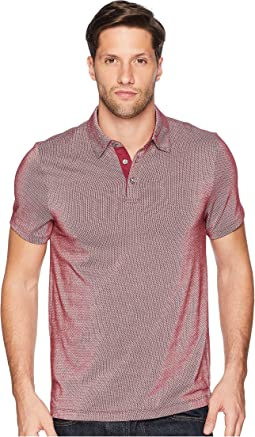 Dotted Stripe Jacquard Polo