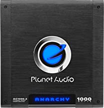 Planet Audio AC1000.2 2 Channel Car Amplifier - 1000 Watts, Full Range, Class A/B, 2-4 Ohm Stable, Mosfet Power Supply, Bridgeable