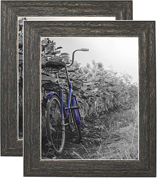 Americanflat 2 Pack 8x10 Barnwood Rustic Style Picture Frames With Easels Made For Wall And Tabletop Display