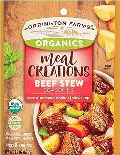 Orrington Farms Organics Meal Creations Beef Stew Seasoning 2 oz, (Pack of 12)