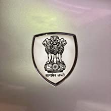 3D Dome Emblem Badge Car and Motorbike car Exterior Stickers (SATYAMEVA JAYATE)