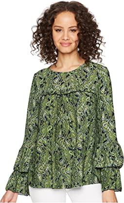 Paisley Tier Sleeve Top