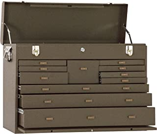 Kennedy Manufacturing 52611B 11-Drawer Machinist's Chest with Friction Slides, Brown Wrinkle