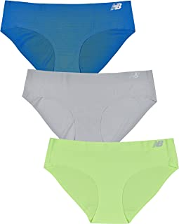 New Balance Women's Breathable Hipster Panty 3-Pack, Stretchable Durable Underwear