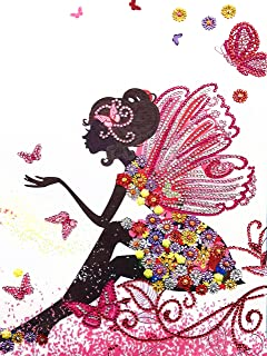 DIY 5D Special Shaped Diamond Painting Kit Butterfly Fairy Full Drill Diamond Painting by Numbers Diamond Art Supplies Acr...