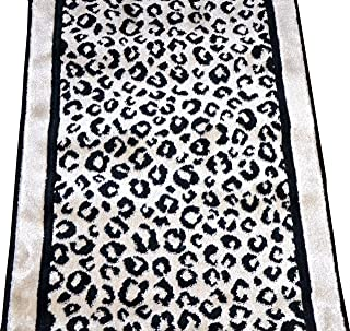 Dean Flooring Company Kenya Onyx Snow Leopard Stair or Hall Premium Nylon Carpet Runner Rug 27