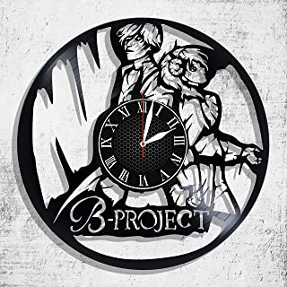 B-Project: KodouAmbitious wall clock made from real vinyl record, B-Project: KodouAmbitious wall poster