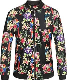 hawaiian print bomber jacket