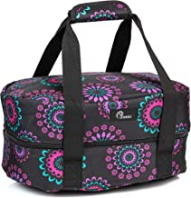 Slow Cooker Bag for Carrying Oval and Round-Shaped Crockpots, Multi Cookers, Rice & Pressure Cookers up to 7 Quarts to Transport Hot Food with Ease and in Style (Purple Circle)