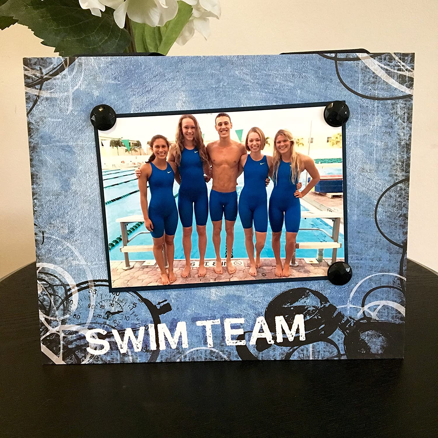 Swim Team sports coach captain mom gift jeweled Cheap mail order specialty Max 57% OFF store handmad dad pool