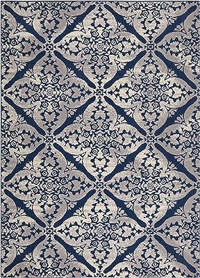 "Home Dynamix Tremont Sequoia Bohemian Area Rug, Ikat Blue/Gray 7'10""x10'5"""