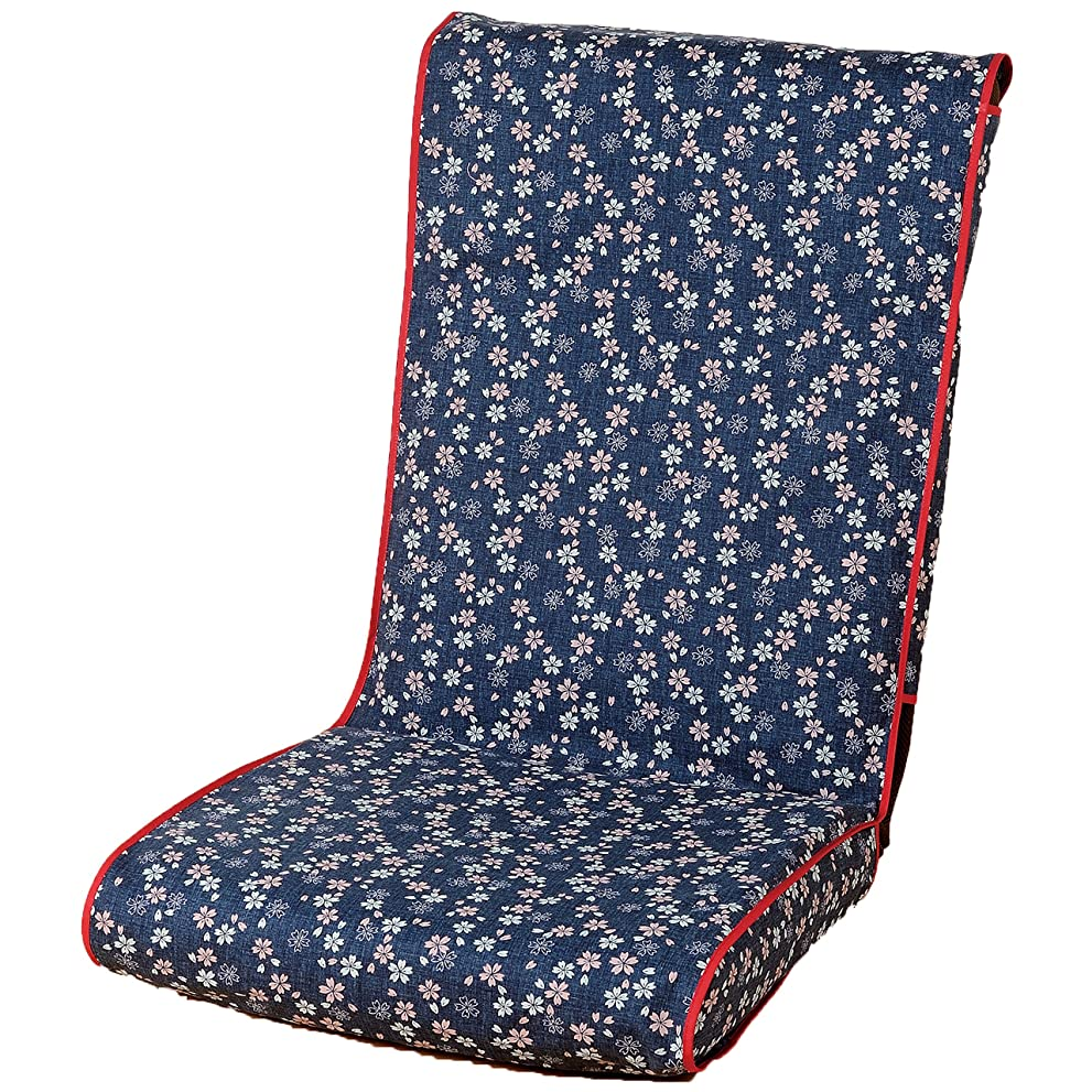 冗談でに渡ってシーン日本製 和室用 洗える 座椅子カバー 夜桜柄