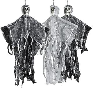 THE TWIDDLERS Halloween 3 hangende griezelige skelet seizoensdecoratie - tot 70 cm ophangen aan het plafond, perfecte part...