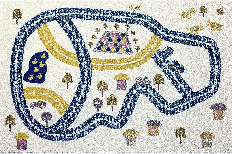 Kunst für Kinder, Kinderzimmer Racetrack Racetrack Racetrack Teppich und Spielmatte, mehrfarbig, 100 x 150 cm B01M5JG4B5 bd5935