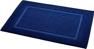 """AmazonBasics Banded Bath Mat, 20 x 31"""", Navy Blue"""