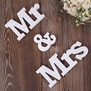 MXKJ-STORE Mr and Mrs Sign Wedding Sweetheart Table Decorations, Decorative Letters for Party Table Top Dinning Tables, Photo Props, Banner, Bridal Shower Gift