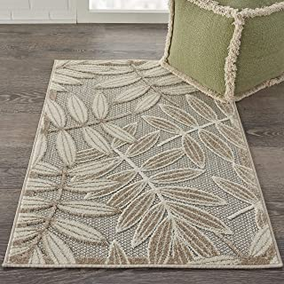Nourison Aloha Indoor/Outdoor Floral Natural 2'8