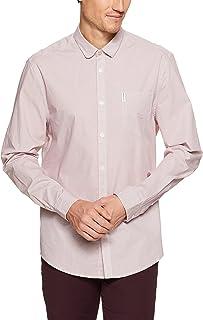 Ben Sherman Men's Long Sleeve Micro Linear Square Shirt