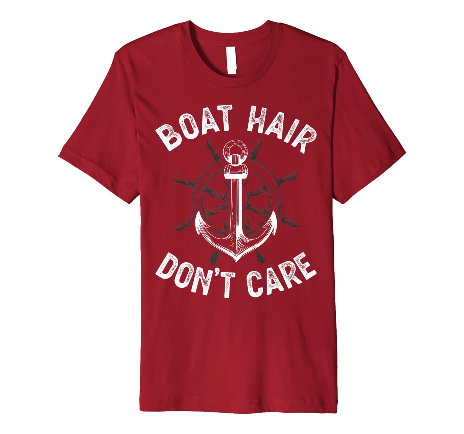 Boat Hair Don't Care T Shirt Girls Women Funny Boating Gifts