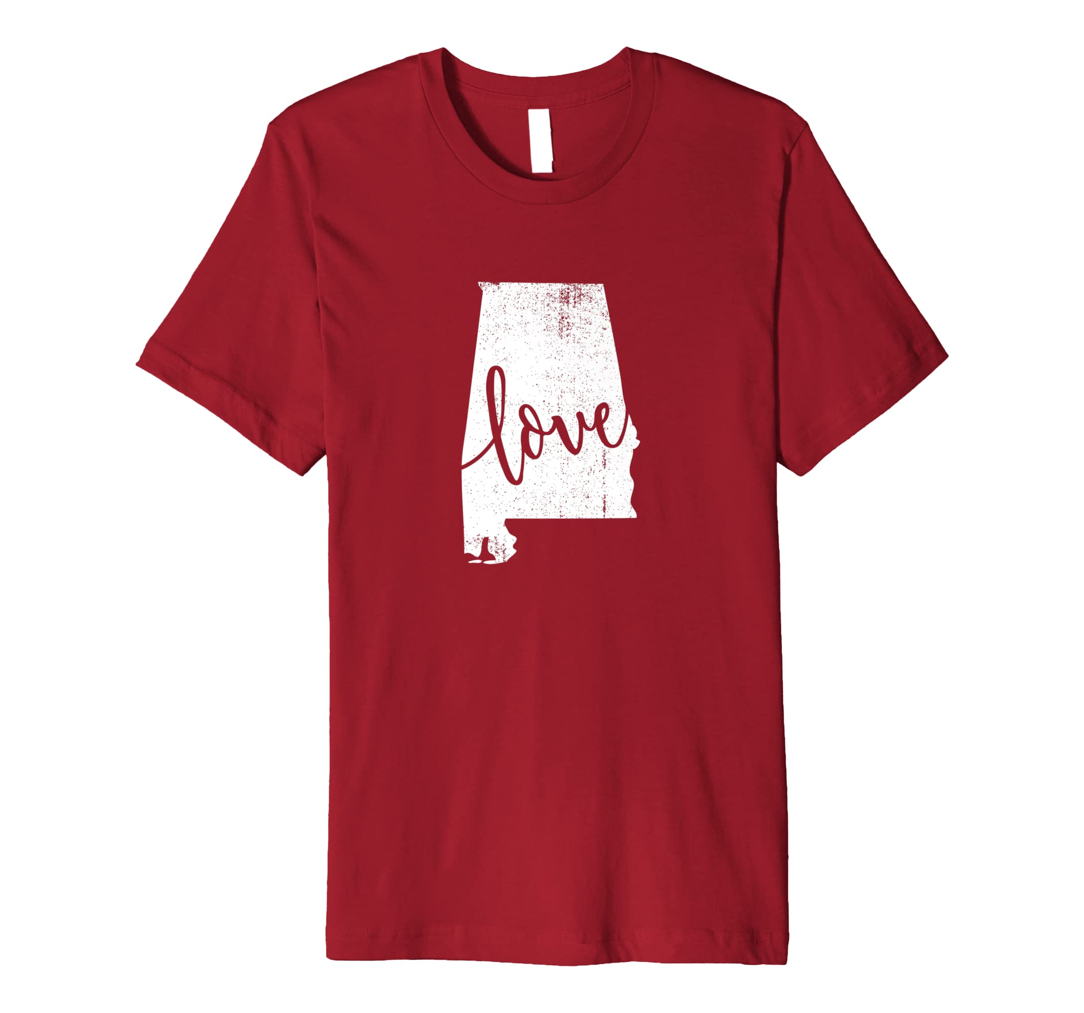 Amazon Com Alabama Home Love Vintage State Map Outline Shirt Gift