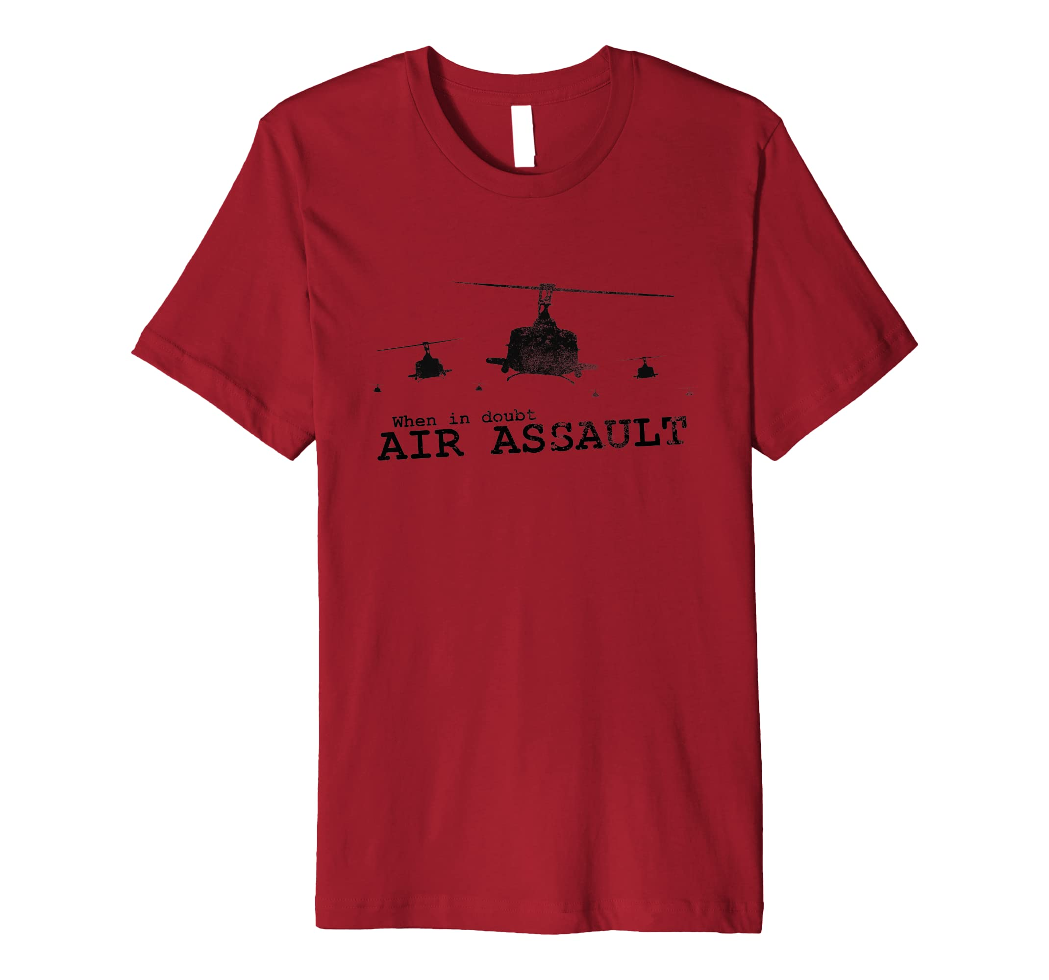 Airborne T-shirt - When In Doubt... (distressed/subdued)-ANZ