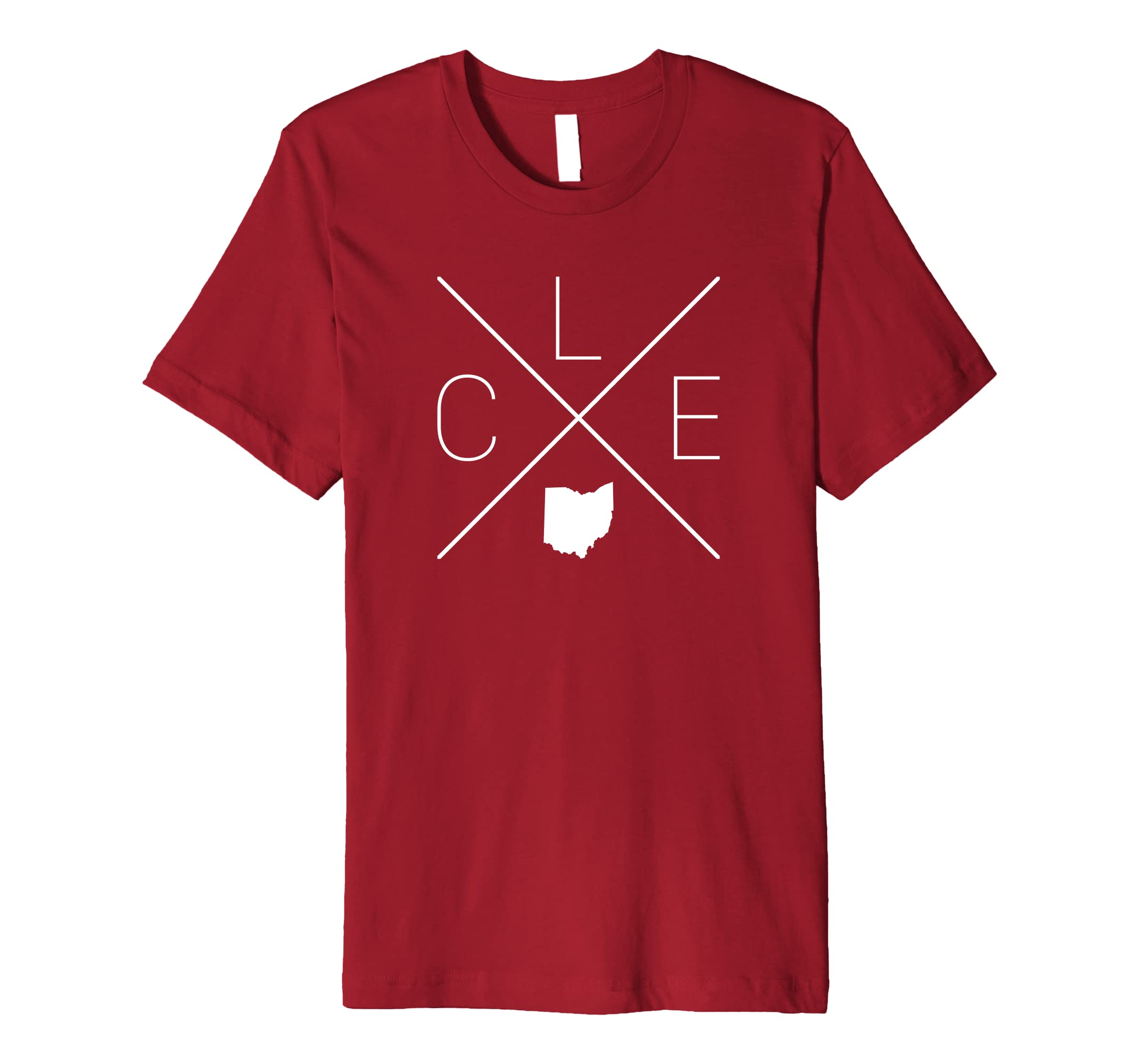 CLE Cross Design   Cleveland Ohio Shirt