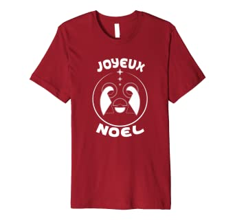 joyeux noel merry christmas french language holiday t shirt