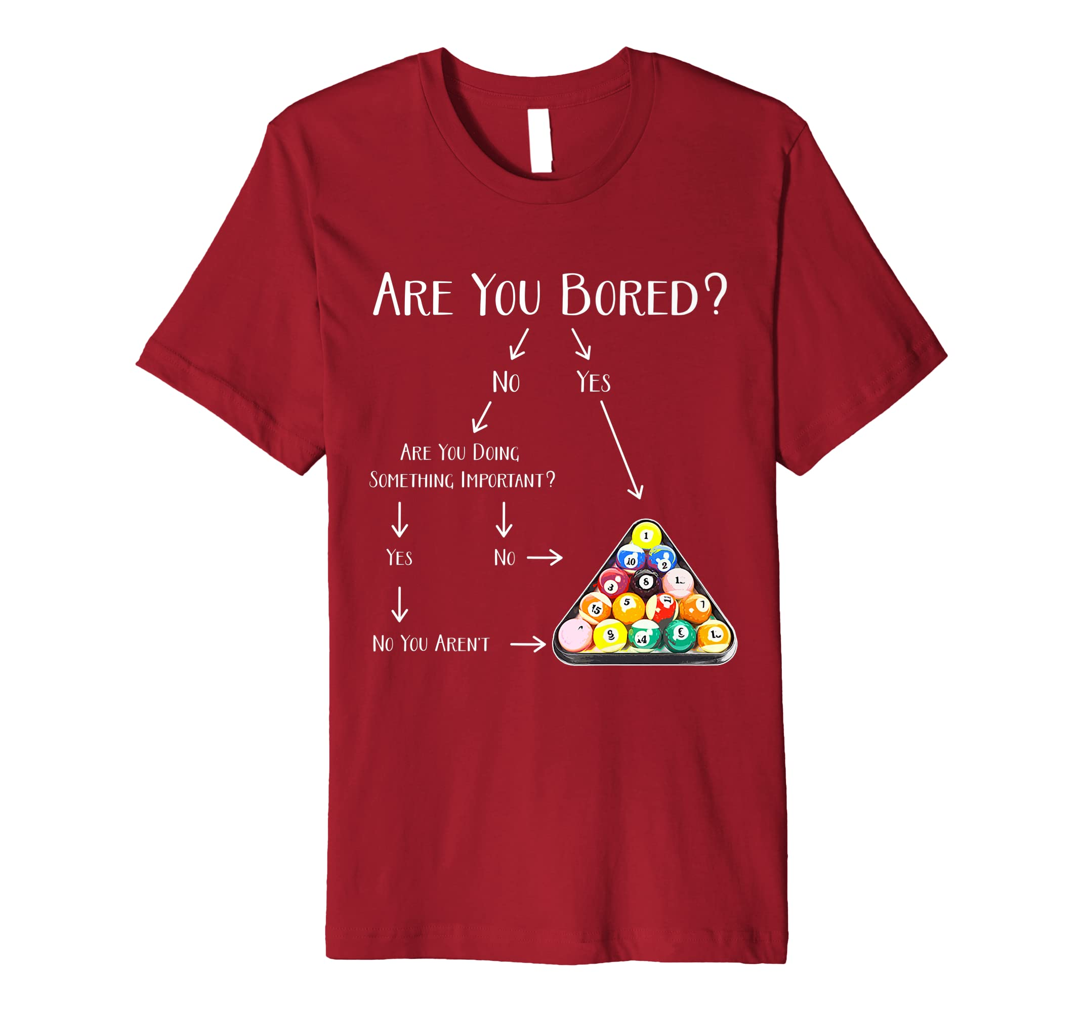 6d501d1b91fd8 Amazon.com: Are You Bored - Men, Kids & Womens Eight Ball Pool Gear ...