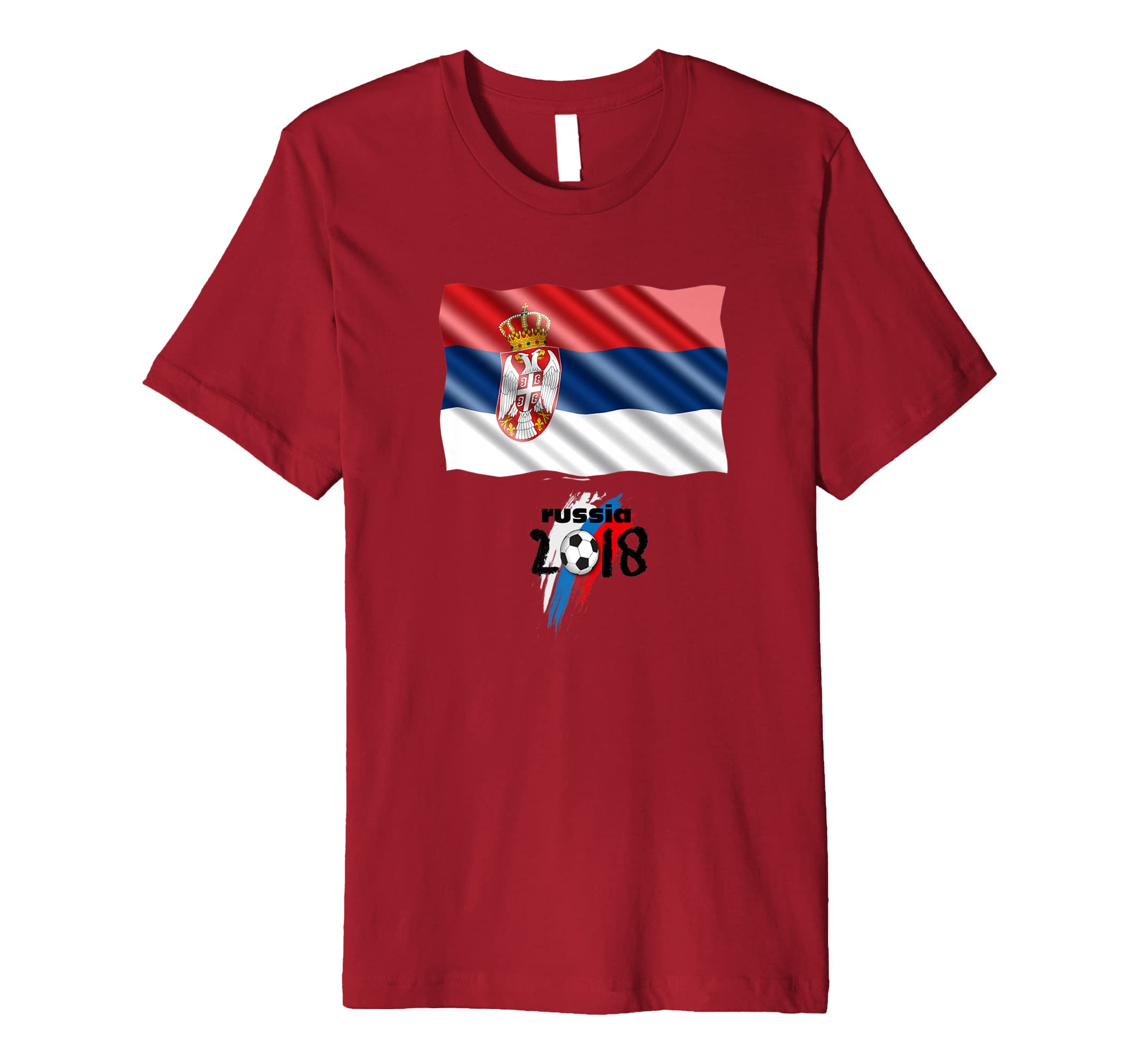 c05a24e913a Amazon.com: Unique World Football Tshirt- Serbia 2018 Cup Soccer Shirt:  Clothing
