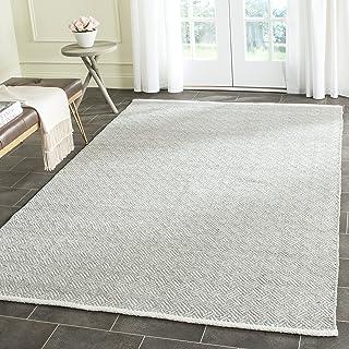 Safavieh Boston Collection BOS680E Handmade Grey Cotton Area Rug (6` x 9`)