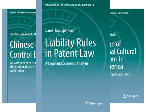 Munich Studies on Innovation and Competition (14 Book Series)