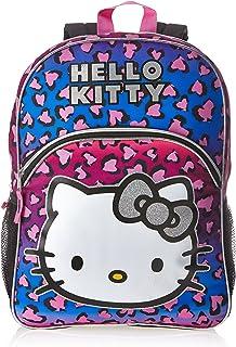 FAB Starpoint Big Girls' Hello Kitty Rainbow Animal Print 16 Inch Backpack