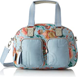 09500db2b5 Oilily Charm Sunflower Handbag Mhz, Sac femme, Bleu (Light Blue), 17x25x33