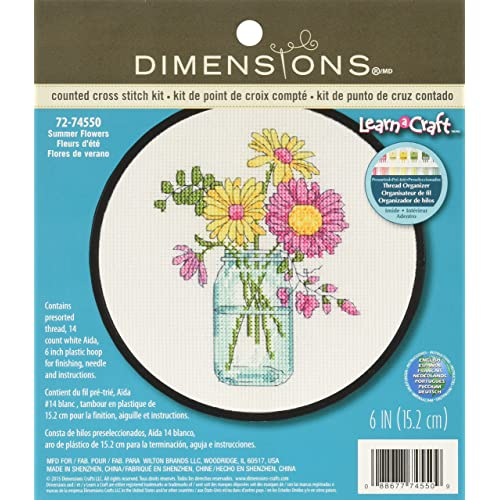 dbb6a93a7 Flowers Counted Cross Stitch Kits: Amazon.com