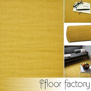 floor factory Alfombra Moderna de Lana Loft Mustard Amarillo