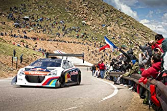 Peugeot 208 T16 Pikes Peak Race Day (2013) Car Art Poster Print on 10 mil Archival Satin Paper White Front Motion View 16