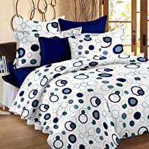 Story@Home Fantasy 100% Cotton Dots Bedsheets for Single Bed with 1 Pillow Cover, White