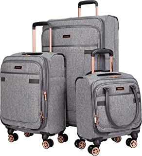 3 Piece Luggage Set, Heather Gray