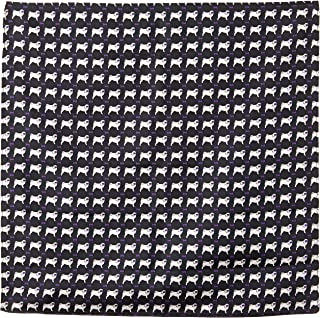 Van Heusen Men's Pocket Square Pugs, Black, One Size