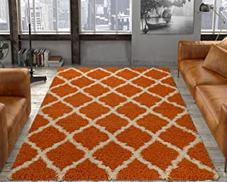 Orange Shag Area Rugs Rugs Pads Protectors Home Kitchen