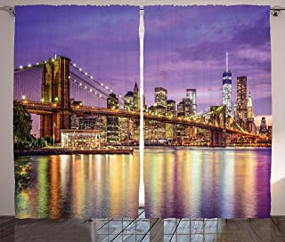 new york cityscape curtains