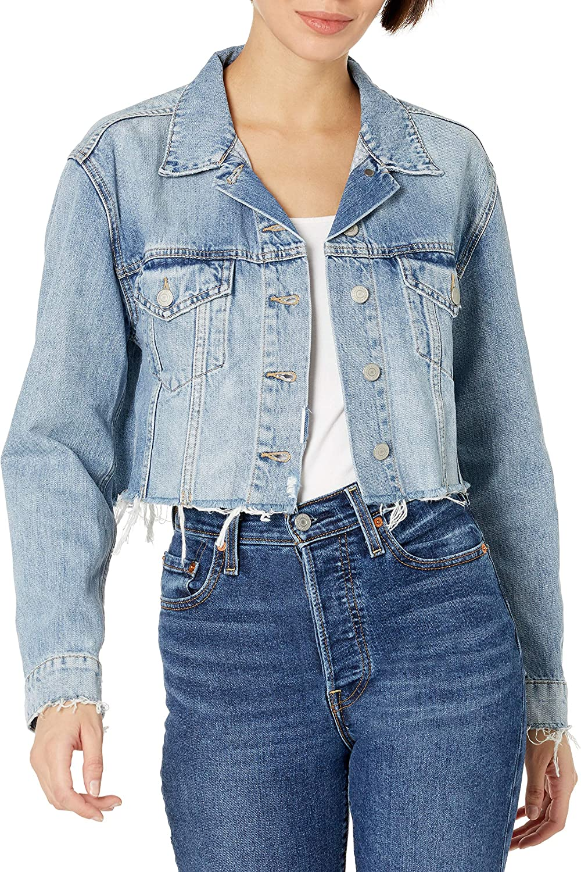 Lucky Brand Women's Cut Off Denim Trucker Jacket