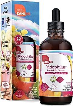 Zahler Kidophilus Great Tasting Probiotics for Kids 4 Oz.