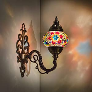 (31 Models) Handmade Wall Lamp Mosaic Shade, 2019 Stunning 16.5