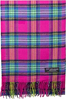 2 PLY 100% Cashmere Scarf Elegant Collection Made in Scotland Wool Solid Plaid