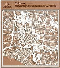 O3 DESIGN STUDIO Melbourne Paper Cut Map White 12x12 inches Paper Art