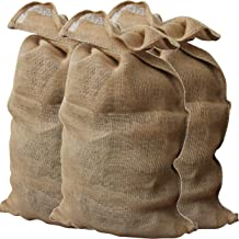 GardenMate Pack of 3 Premium large Hessian Jute Sacks - Each bag 135x65 cm - Large hessian bags made of 340gsm fabric - Burlap sack suitable for potatoes, vegetables, plant protection and decoration