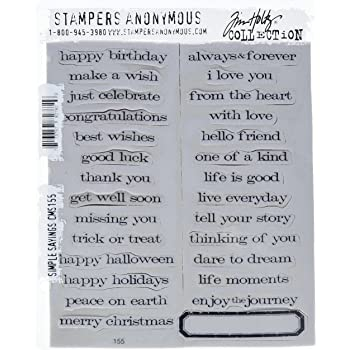 Tim Holtz Rubber Stamp Set Life Quotes CMS 227