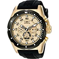 Men's 20306 Speedway 18k Gold Ion-Plated Stainless Steel Watch