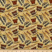 Sykel Enterprises NCAA Western Michigan Broncos Tone on Tone Cotton Fabric by The Yard